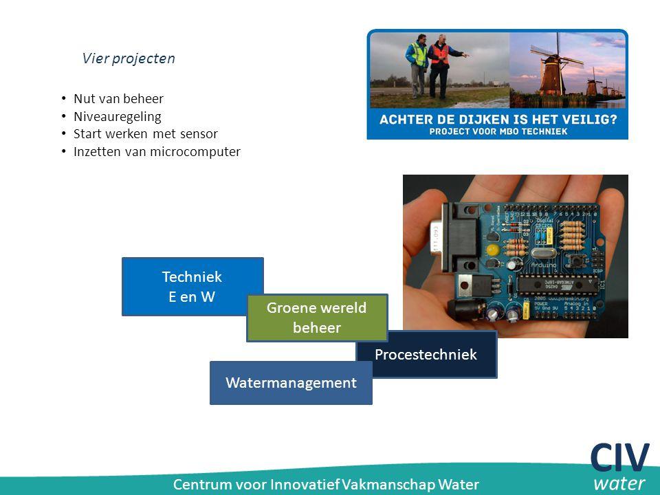 CIV water Vier projecten Techniek E en W Groene wereld beheer