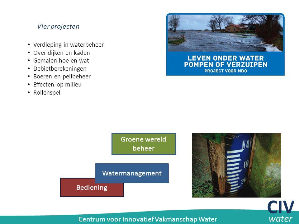 CIV water Vier projecten Groene wereld beheer Watermanagement