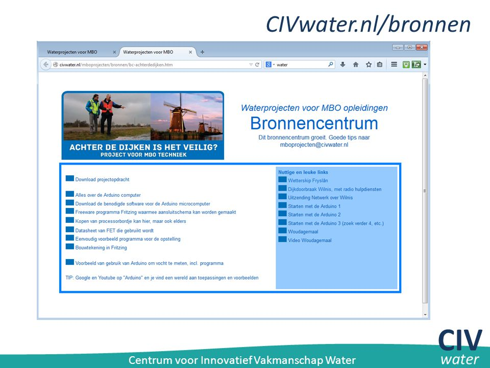 CIV CIVwater.nl/bronnen water
