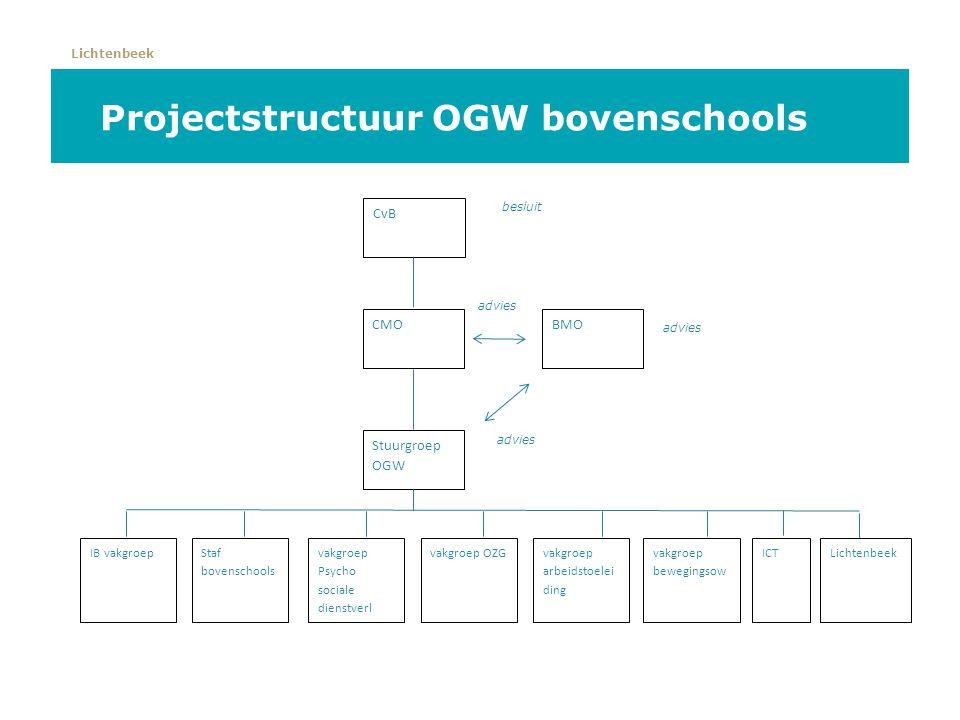 Projectstructuur OGW bovenschools
