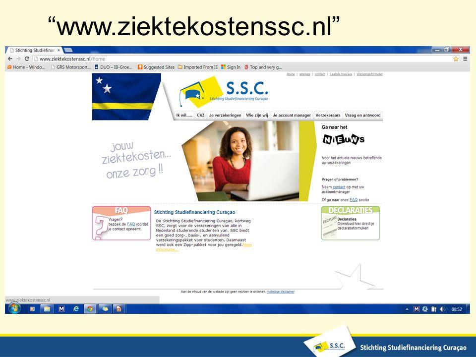 www.ziektekostenssc.nl
