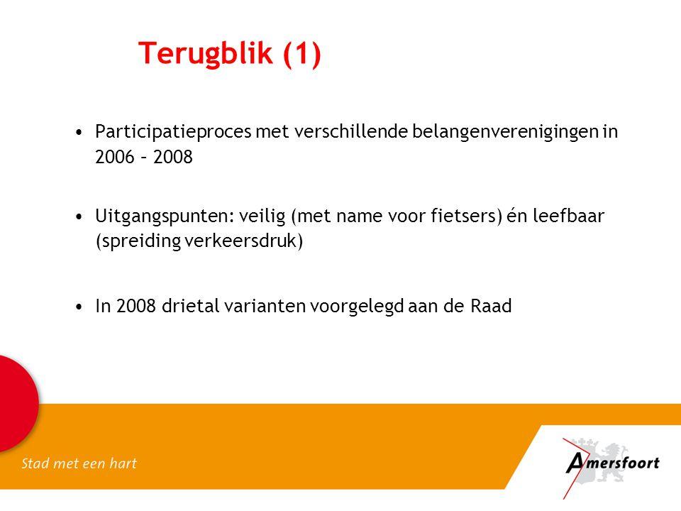 Terugblik (1) Participatieproces met verschillende belangenverenigingen in 2006 – 2008.