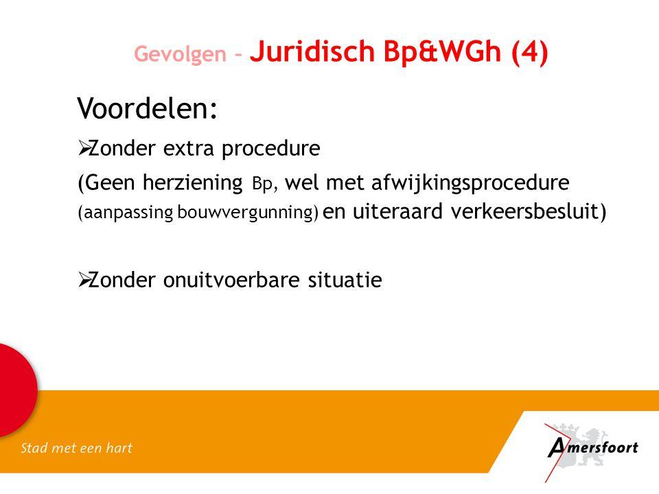 Voordelen: Gevolgen – Juridisch Bp&WGh (4) Zonder extra procedure