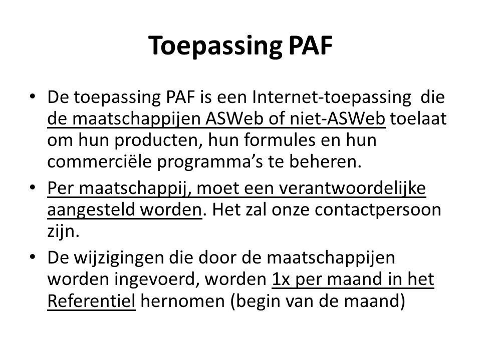 Toepassing PAF