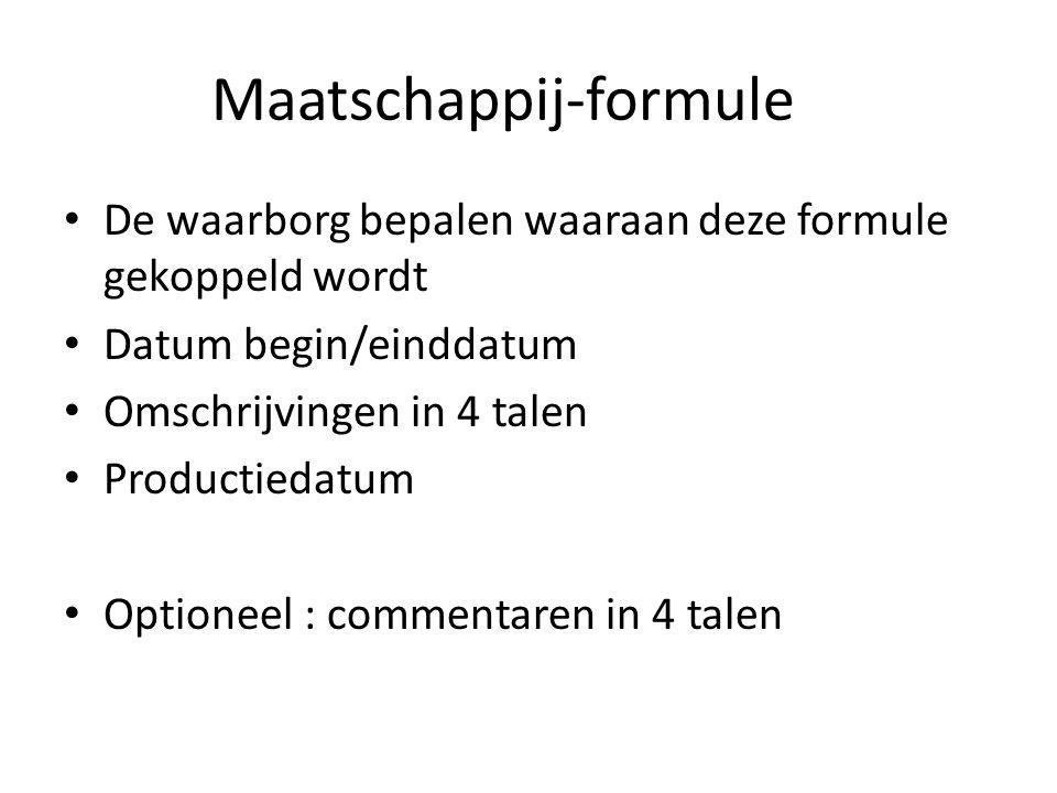 Maatschappij-formule
