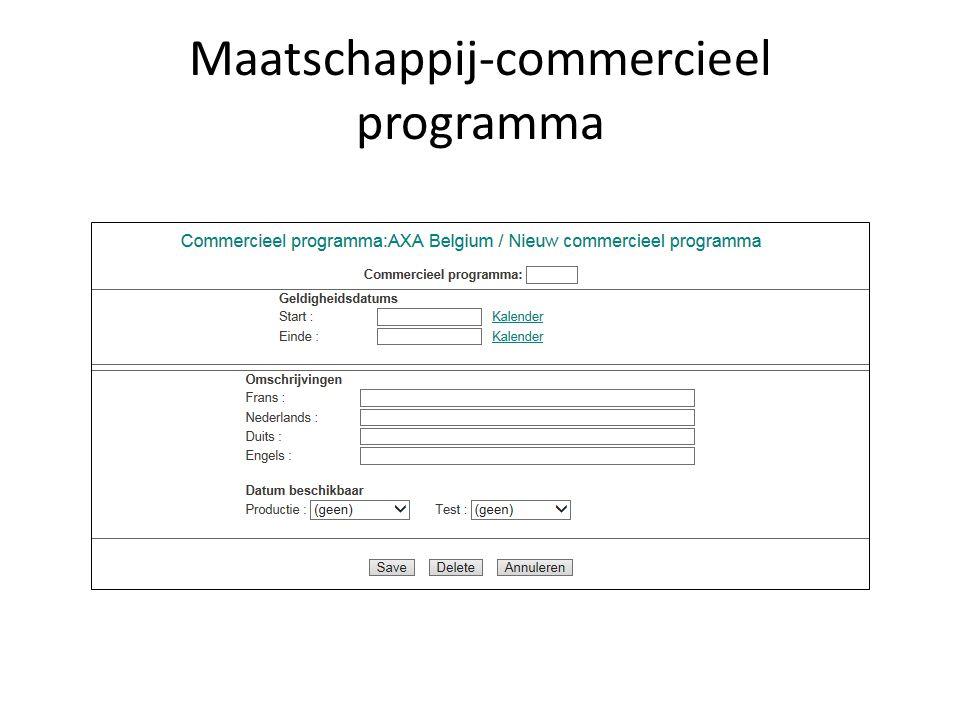 Maatschappij-commercieel programma