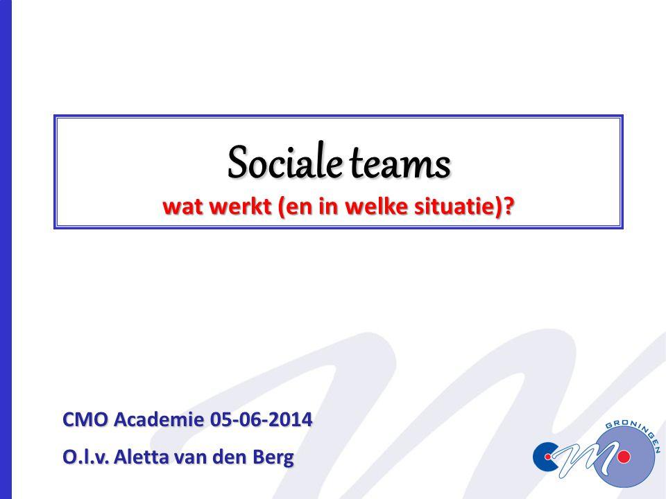 Sociale teams wat werkt (en in welke situatie)