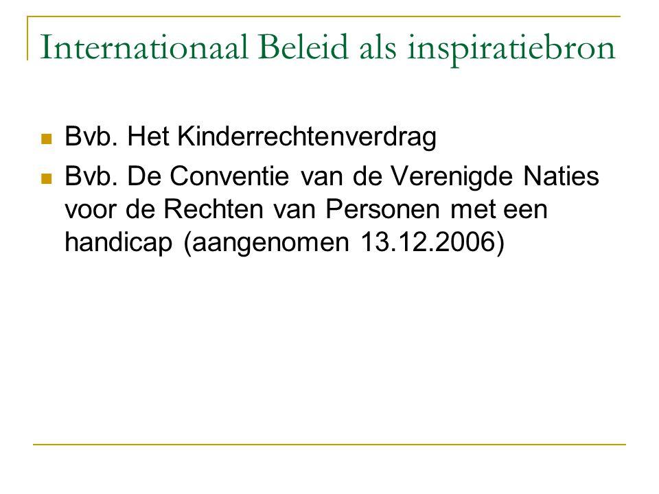 Internationaal Beleid als inspiratiebron