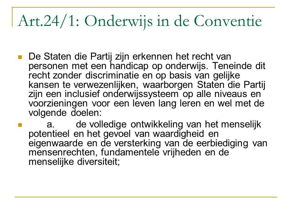 Art.24/1: Onderwijs in de Conventie