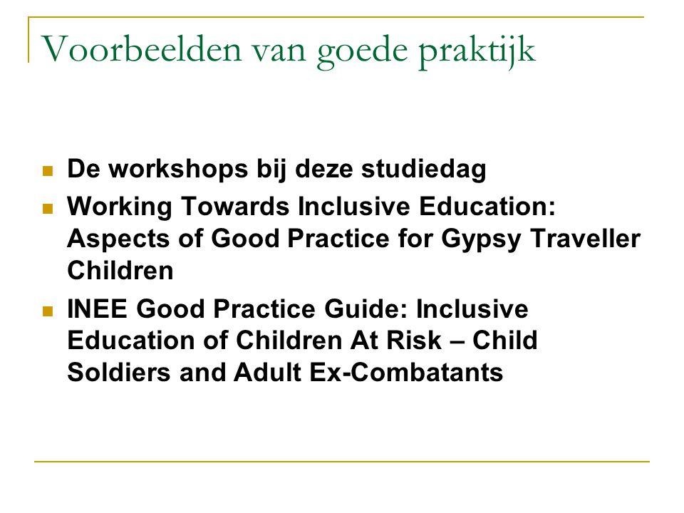 Voorbeelden van goede praktijk