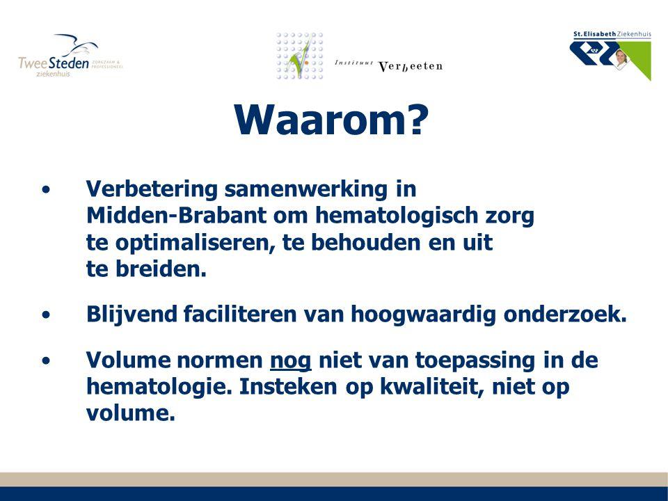 Waarom Verbetering samenwerking in Midden-Brabant om hematologisch zorg te optimaliseren, te behouden en uit te breiden.