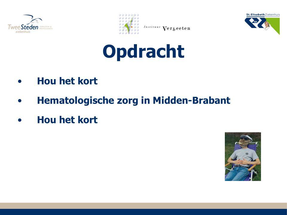 Opdracht Hou het kort Hematologische zorg in Midden-Brabant