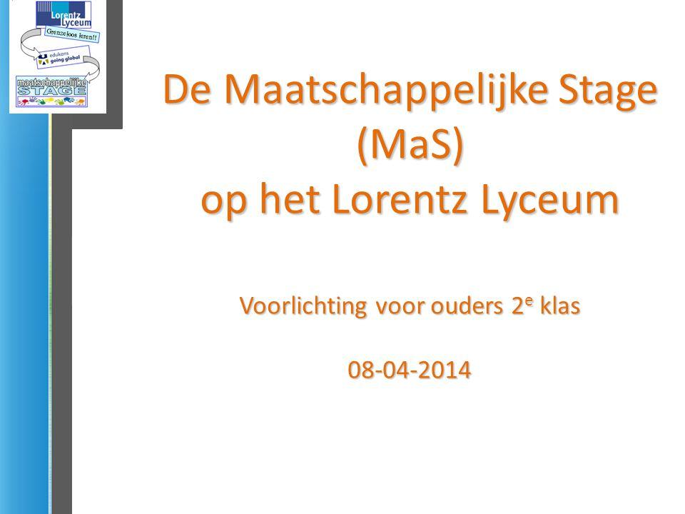 De Maatschappelijke Stage (MaS) op het Lorentz Lyceum