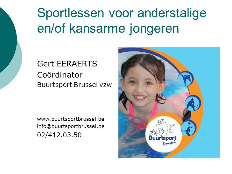 Sportlessen voor anderstalige en/of kansarme jongeren