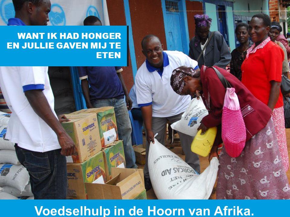 Voedselhulp in de Hoorn van Afrika.