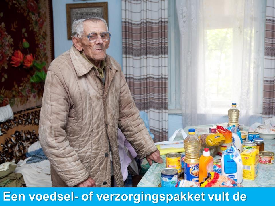 Een voedsel- of verzorgingspakket vult de dagelijkse levensbehoeften aan.