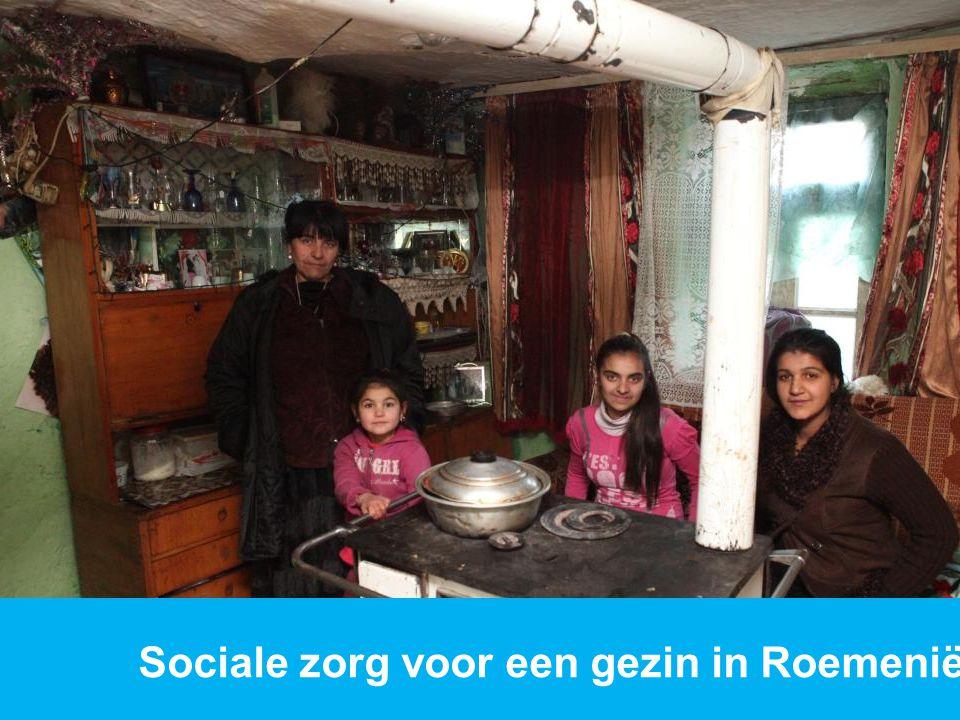 Sociale zorg voor een gezin in Roemenië.