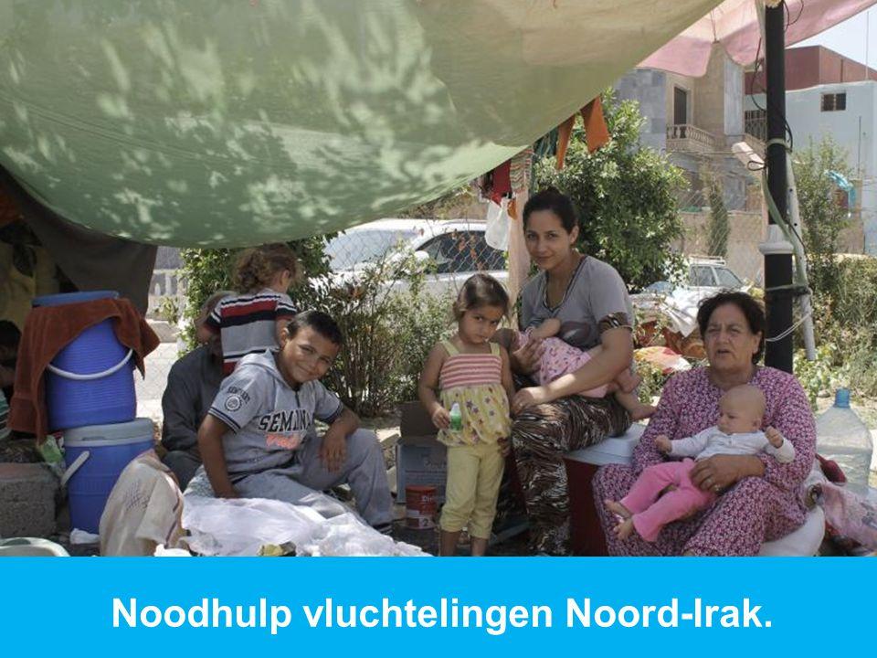 Noodhulp vluchtelingen Noord-Irak.