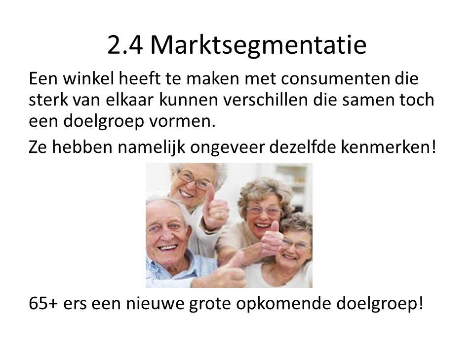2.4 Marktsegmentatie