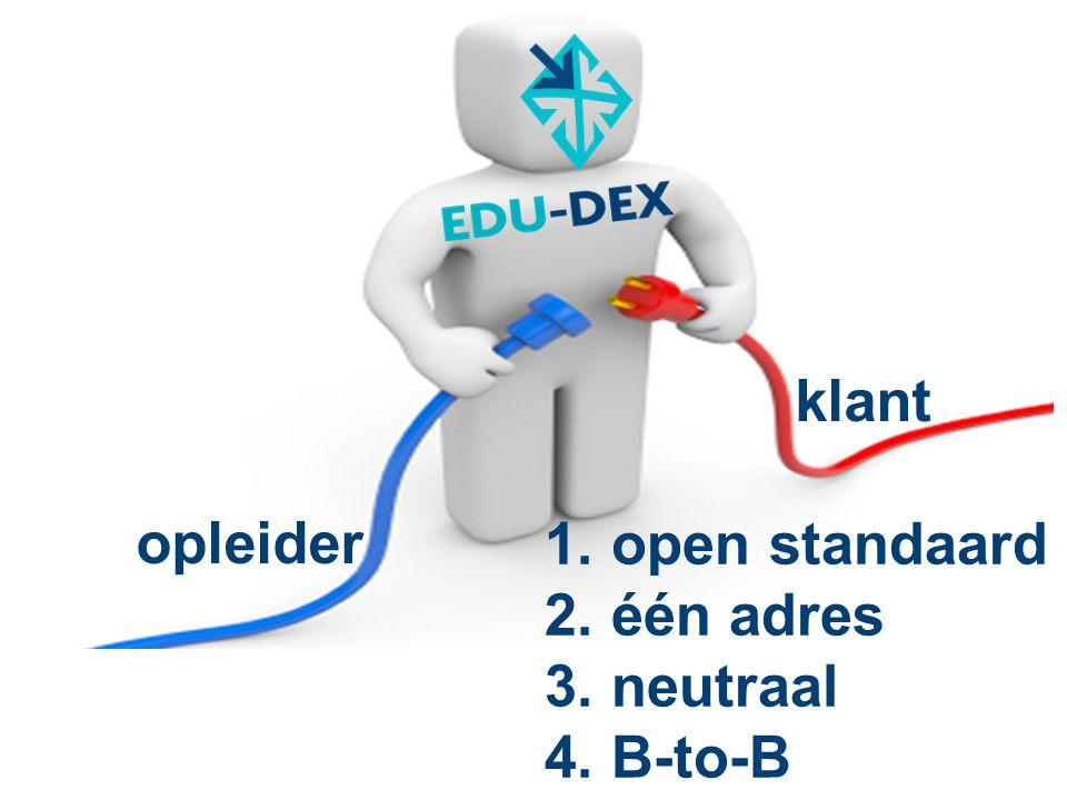 klant opleider open standaard één adres neutraal B-to-B