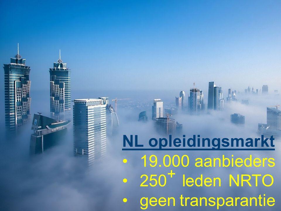NL opleidingsmarkt 19.000 aanbieders 250+ leden NRTO