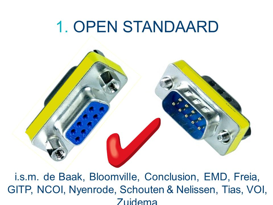 NRTO Ledendag - 30 juni 2014 1. OPEN STANDAARD.