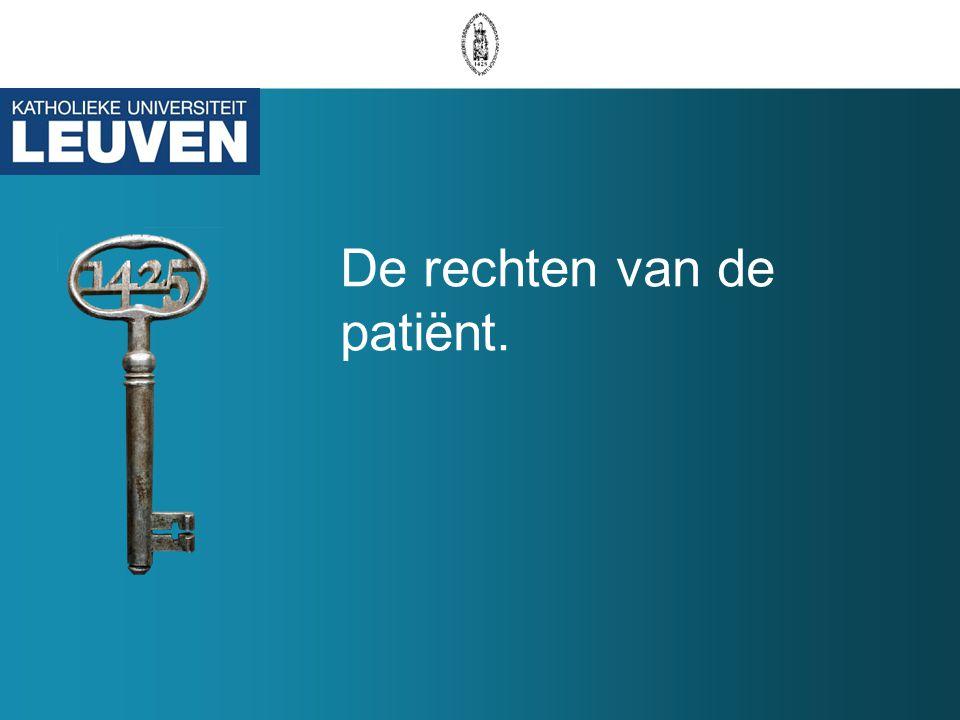 De rechten van de patiënt.