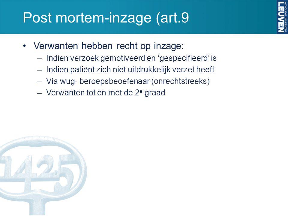 Post mortem-inzage (art.9