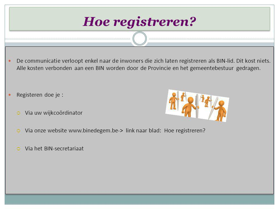 Hoe registreren
