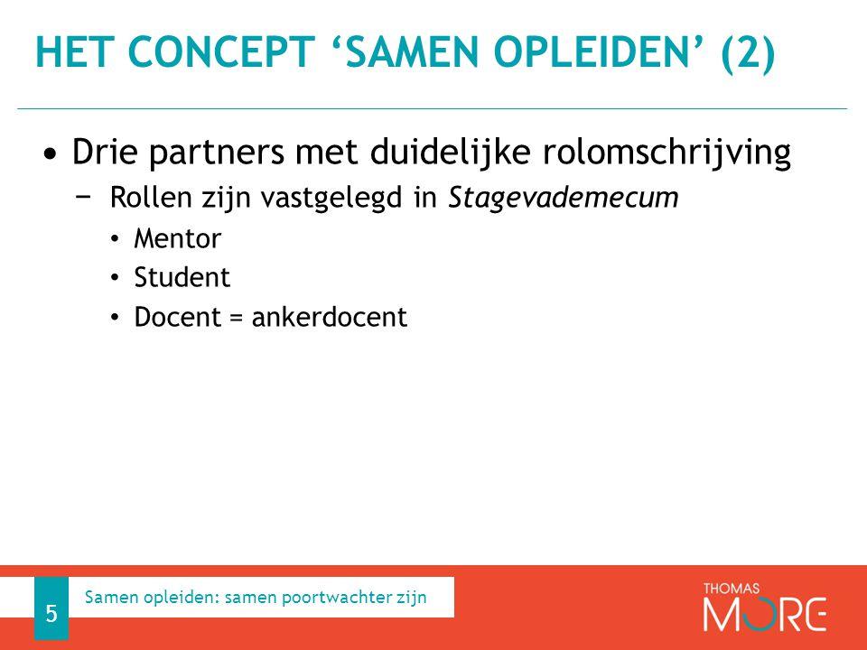Het concept 'Samen opleiden' (2)