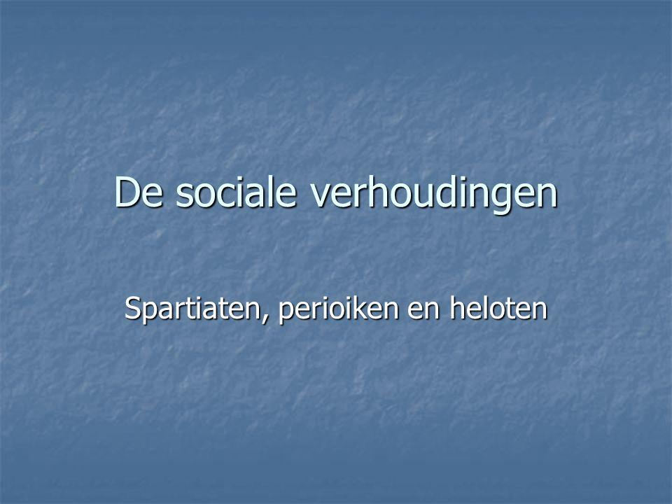 De sociale verhoudingen