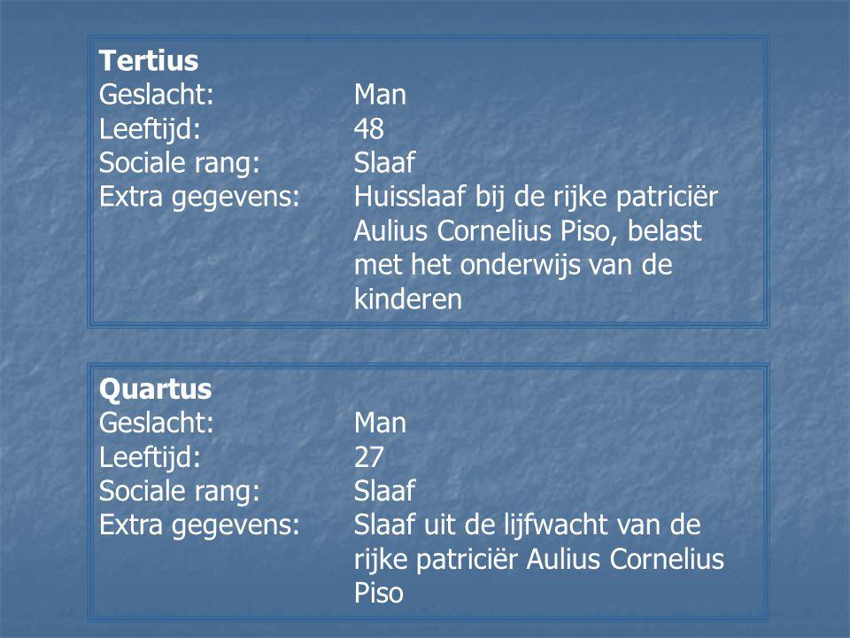 Tertius Geslacht: Man. Leeftijd: 48. Sociale rang: Slaaf.