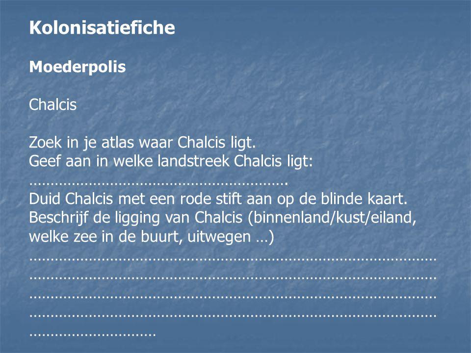 Kolonisatiefiche Moederpolis Chalcis