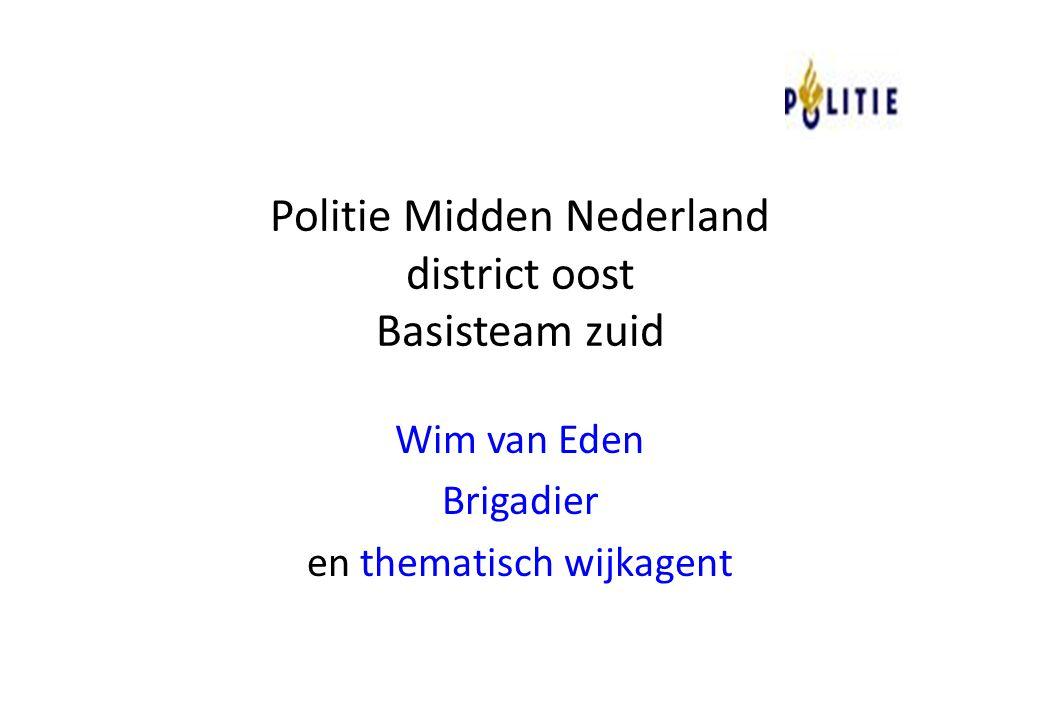 Politie Midden Nederland district oost Basisteam zuid