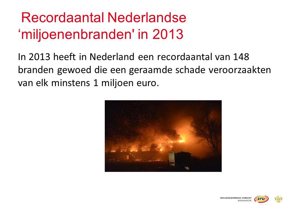 Recordaantal Nederlandse 'miljoenenbranden in 2013