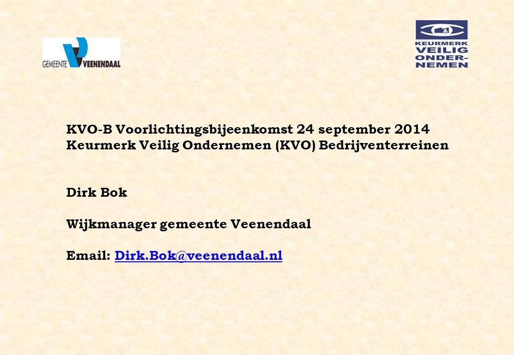 KVO-B Voorlichtingsbijeenkomst 24 september 2014