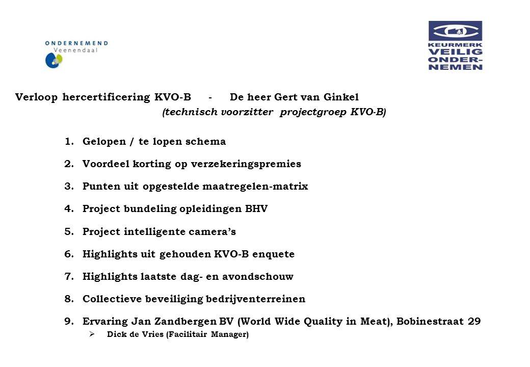 Verloop hercertificering KVO-B - De heer Gert van Ginkel