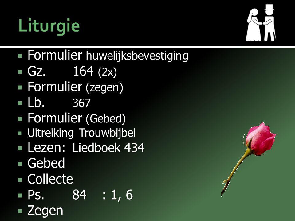 Liturgie Formulier huwelijksbevestiging Gz. 164 (2x) Formulier (zegen)