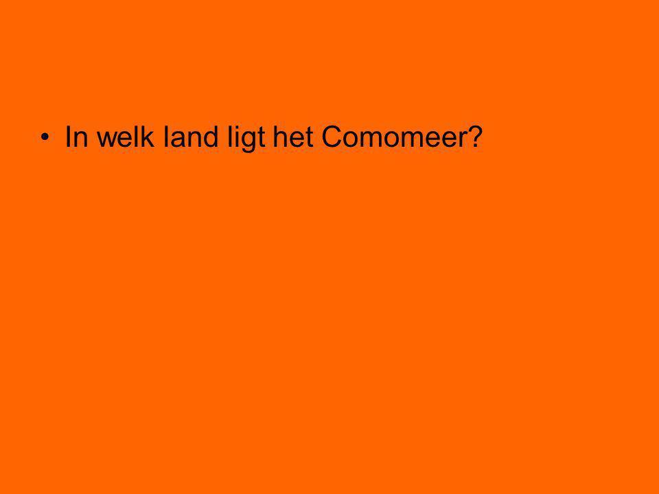 In welk land ligt het Comomeer