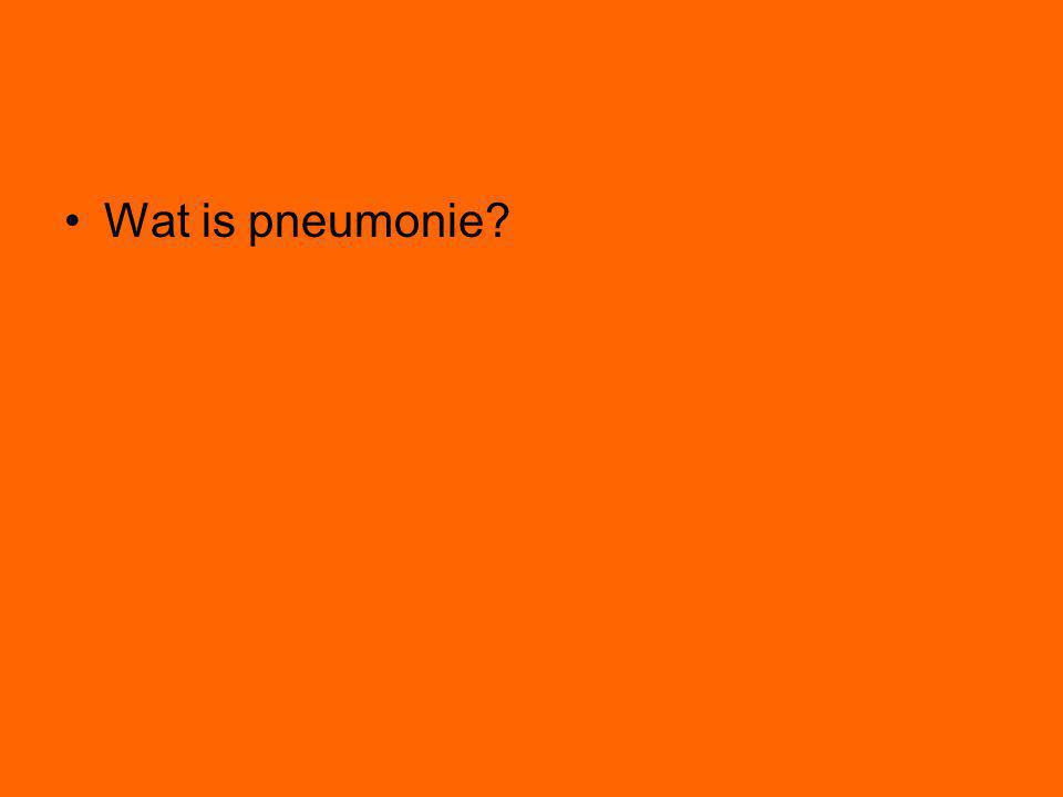 Wat is pneumonie