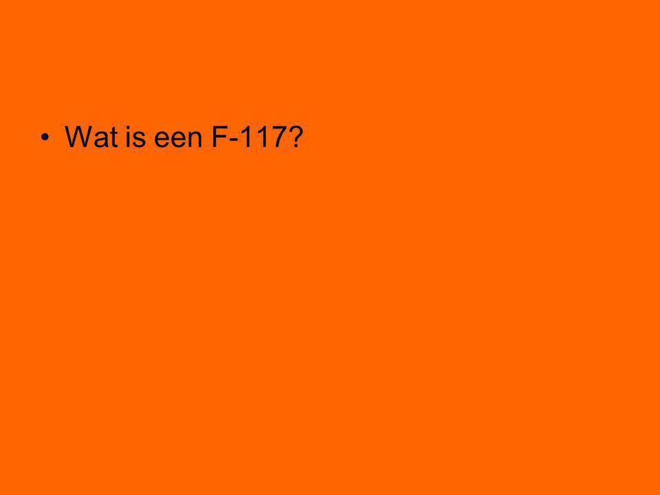 Wat is een F-117