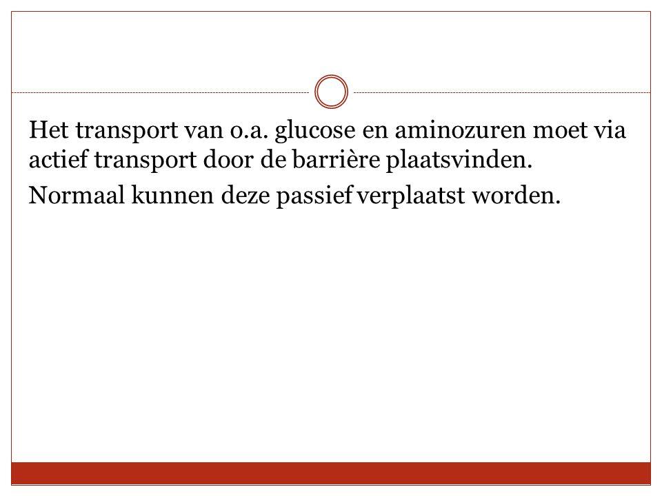 Het transport van o.a.