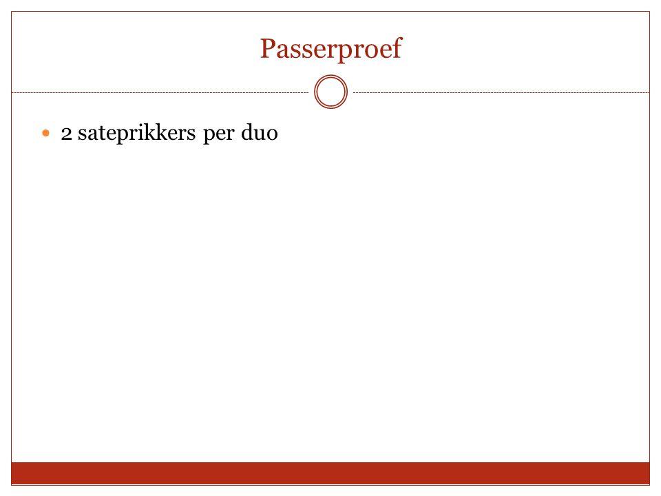 Passerproef 2 sateprikkers per duo