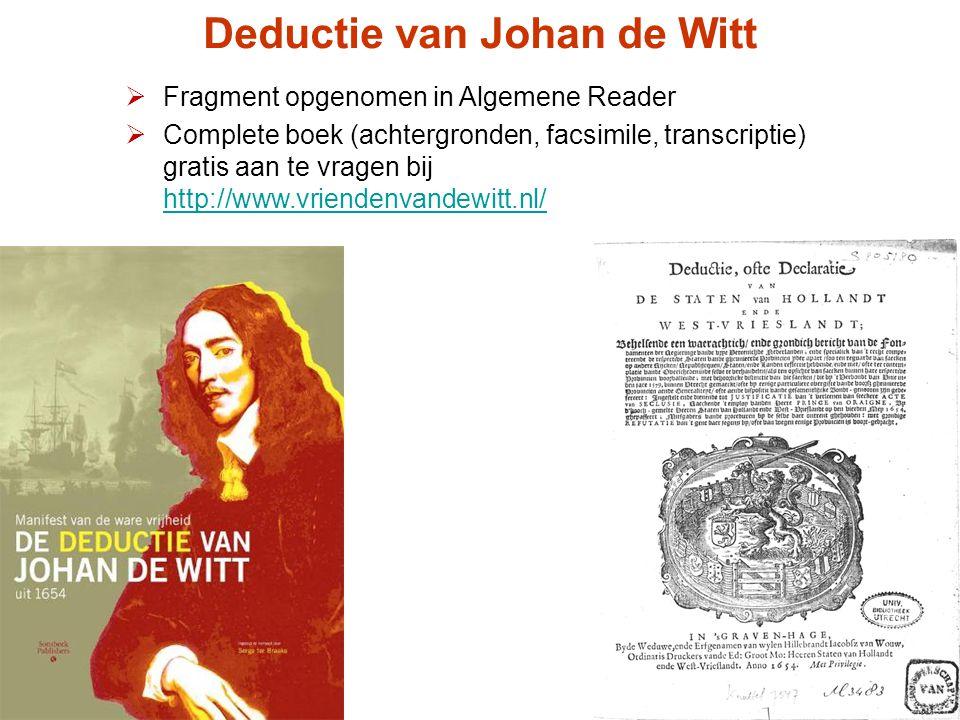 Deductie van Johan de Witt