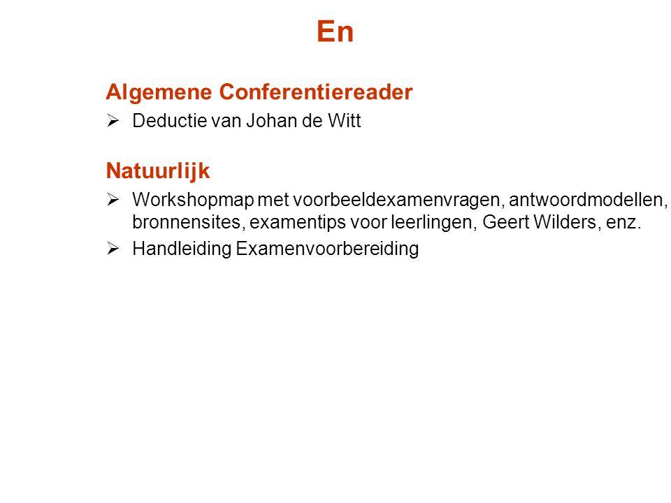 En Algemene Conferentiereader Natuurlijk Deductie van Johan de Witt