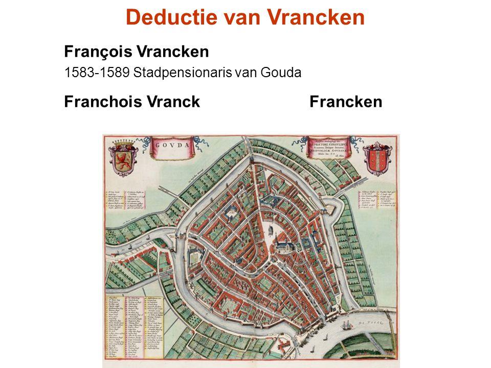 Deductie van Vrancken François Vrancken Franchois Vranck Francken