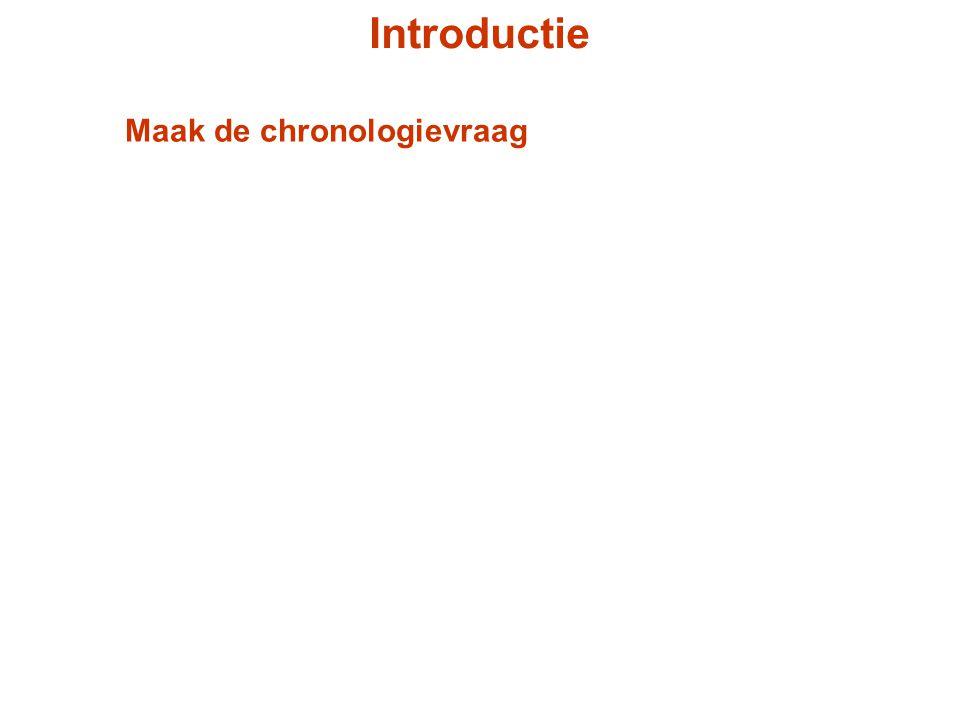 Introductie Maak de chronologievraag