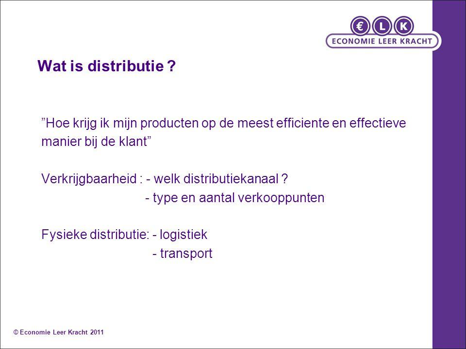 Wat is distributie