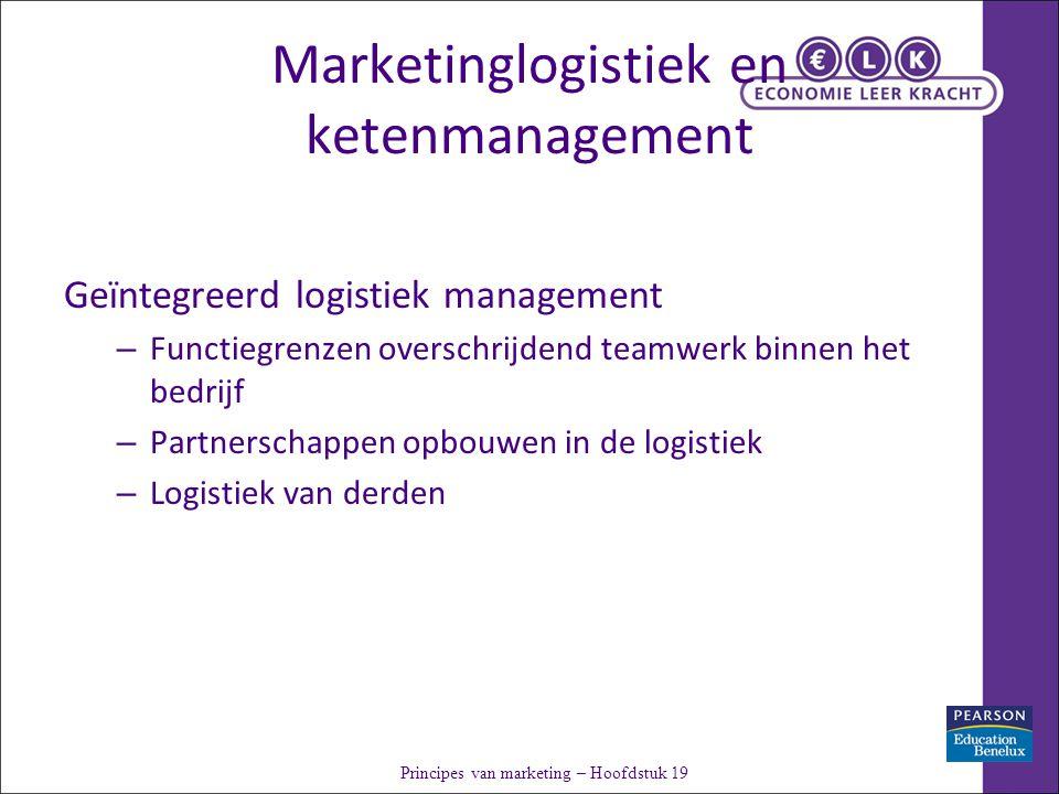 Marketinglogistiek en ketenmanagement