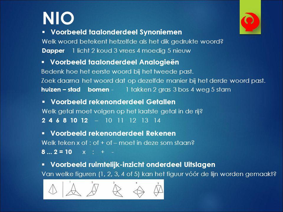 NIO Voorbeeld taalonderdeel Synoniemen